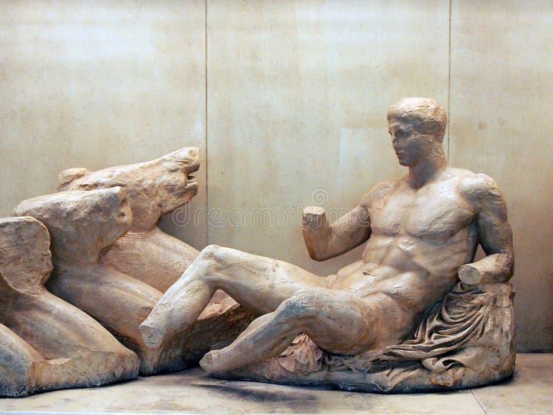 Estátua do grego clássico fotos de stock royalty free
