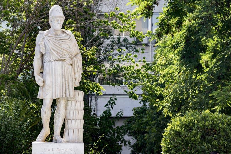 Estátua do grego clássico Pericles fotografia de stock