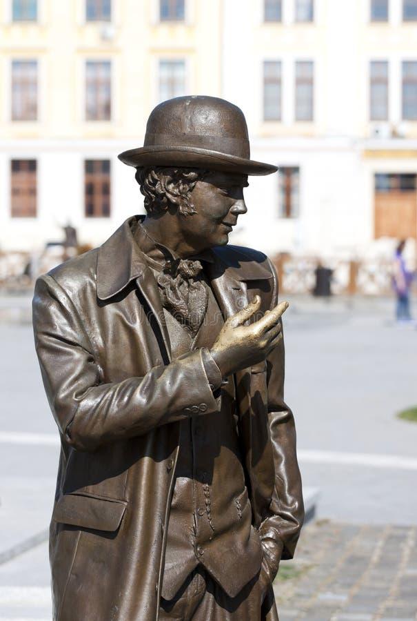 Estátua do homem imagem de stock
