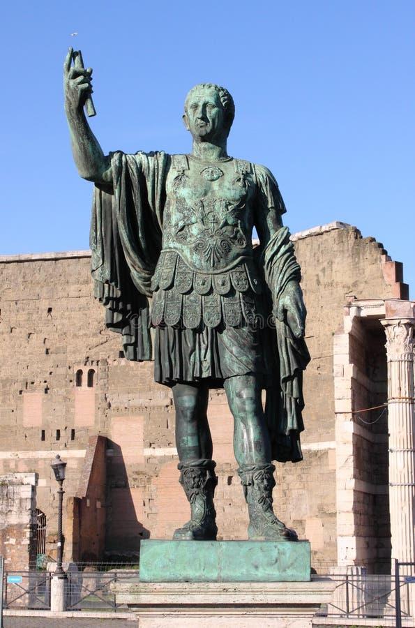Estátua do imperador Nerva foto de stock royalty free