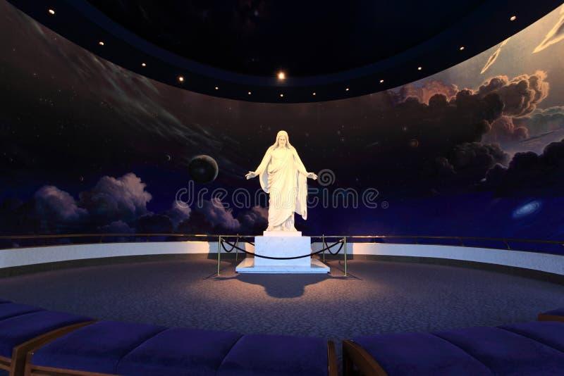 Estátua do Jesus Cristo, Salt Lake City fotos de stock royalty free