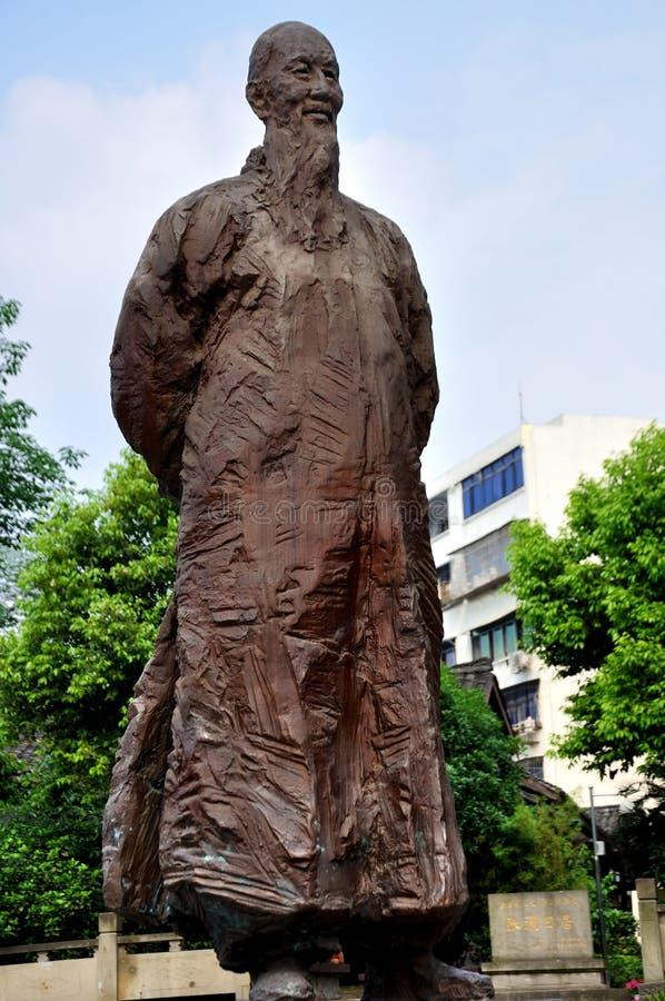 Estátua do Lan de Zhang imagem de stock
