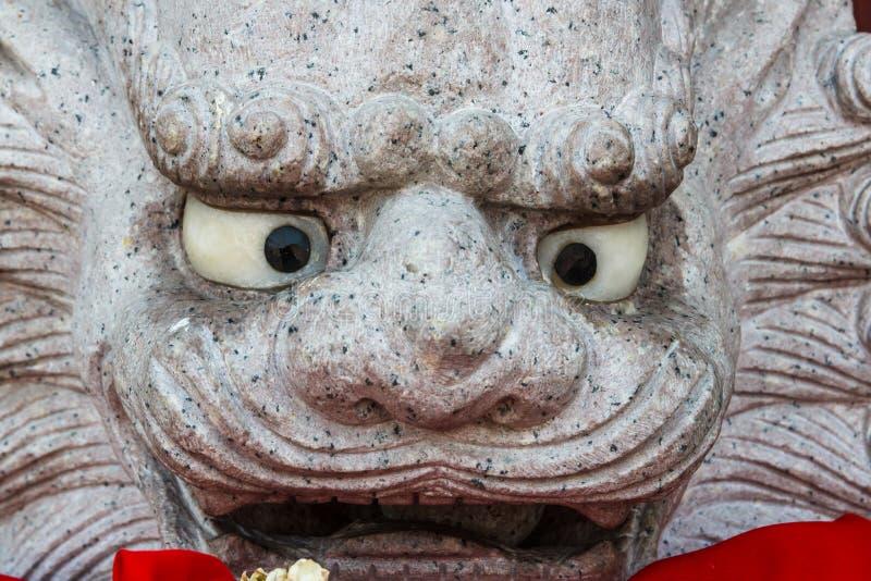 Estátua do leão da cara fotos de stock royalty free