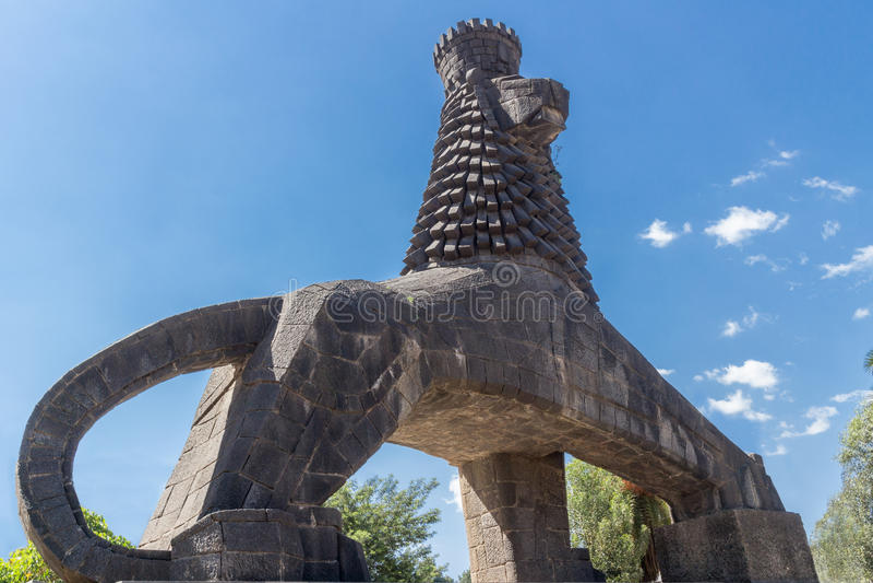 Estátua do leão de Judah foto de stock