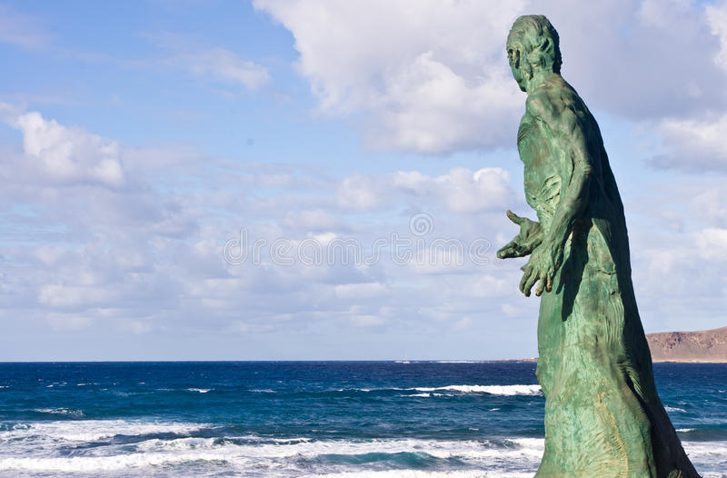 Estátua do mar fotografia de stock