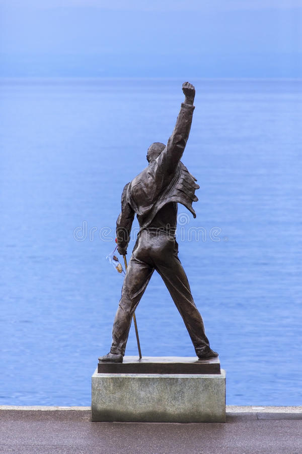 Estátua do Mercury de Freddie - Montreux - Switzerland fotografia de stock royalty free