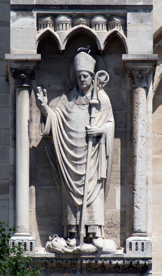 Estátua do papa fotografia de stock