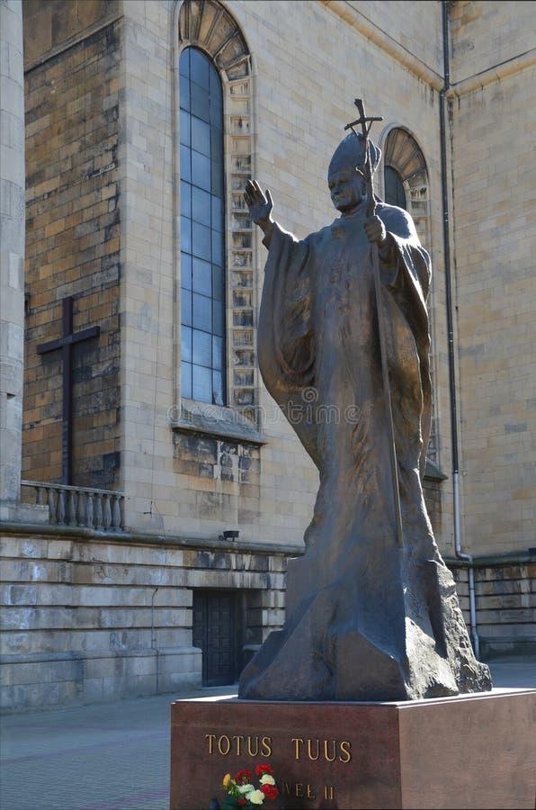 Estátua do papa John Paul II fotos de stock
