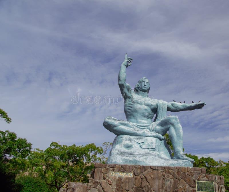 Estátua do parque da paz de Nagasaki Foto tomada o 12 de novembro de 2017 imagem de stock