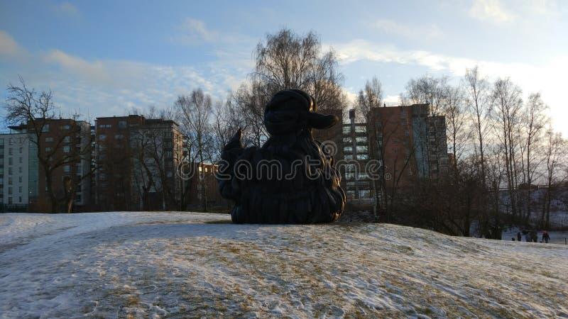 Estátua do pato fotografia de stock