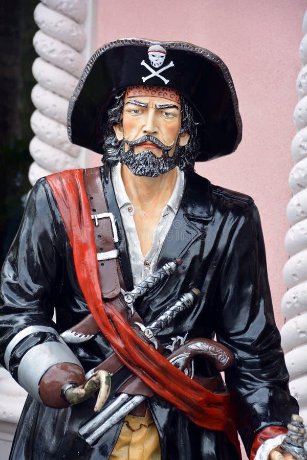 Estátua do pirata imagem de stock