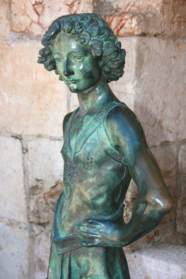 Estátua do rei David, Jerusalém, Israel imagem de stock royalty free