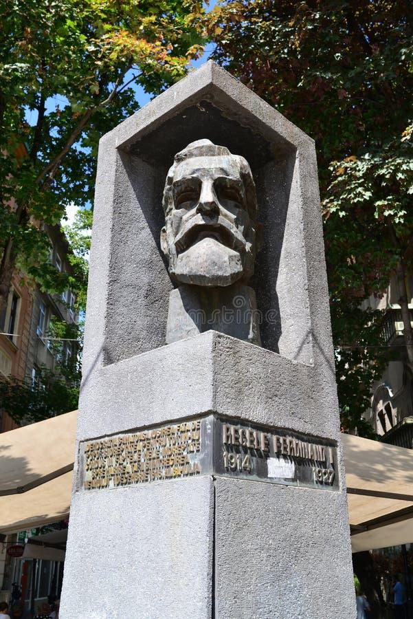 Estátua do rei Ferdinand de Timisoara fotografia de stock