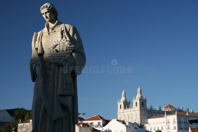 Estátua do rei Manuel Eu, Lisboa imagens de stock royalty free