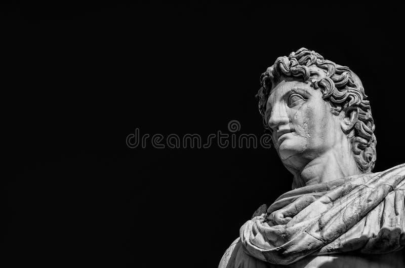 Estátua do rodízio ou do Pollux com espaço da cópia fotos de stock royalty free