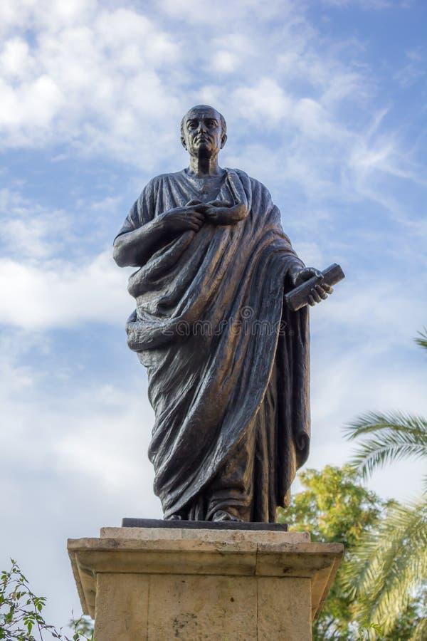 Estátua do Seneca em Córdova foto de stock
