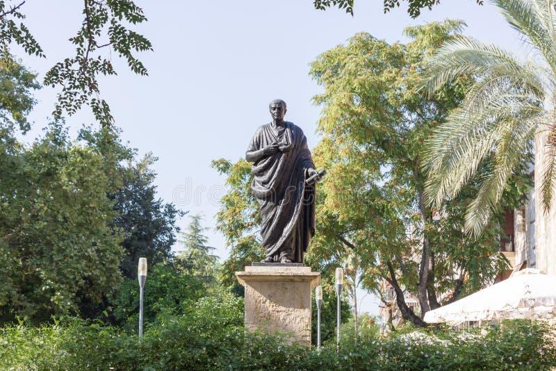 Estátua do Seneca em Córdova foto de stock royalty free