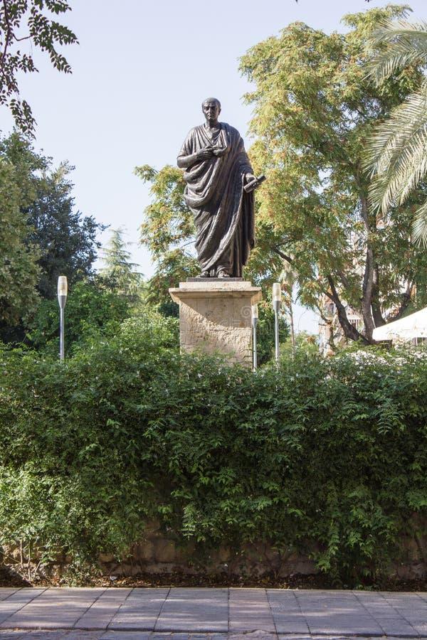 Estátua do Seneca em Córdova fotografia de stock