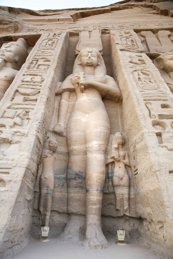 Estátua do simbel de Abu foto de stock