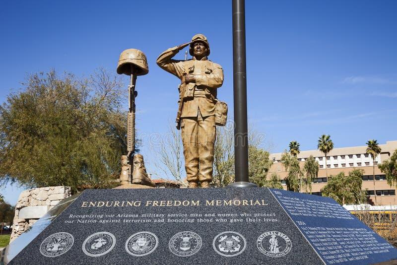 Estátua do soldado americano fotografia de stock