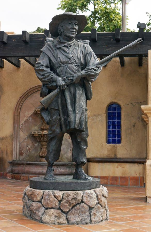 Estátua do soldado no batalhão do mórmon imagens de stock royalty free