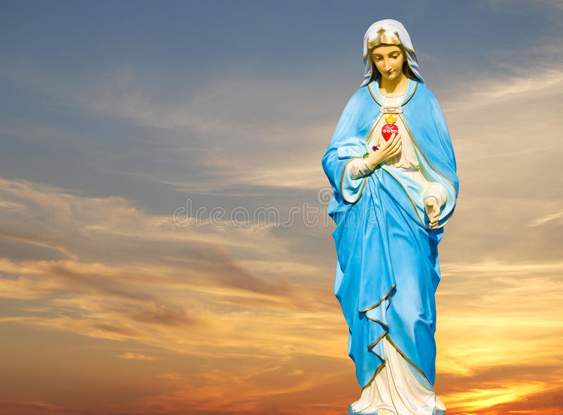 Estátua do Virgin Mary foto de stock royalty free