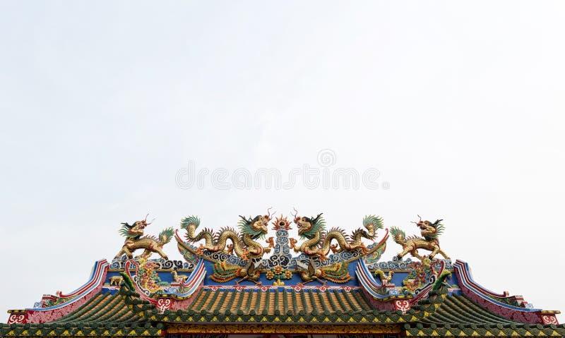 Estátua dos dragões fotografia de stock