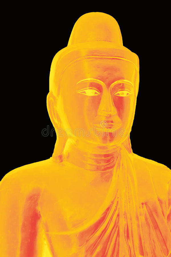 Estátua dourada de buddha fotografia de stock