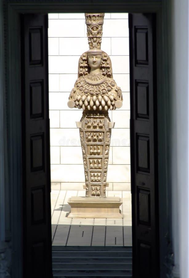 Estátua egípcia imagem de stock
