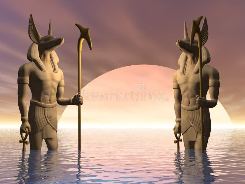Estátua egípcia antiga da ilustração ilustração do vetor
