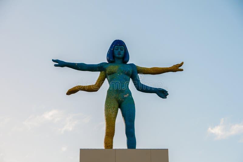 Estátua em Budha Eden Park, em Portugal ilustração royalty free