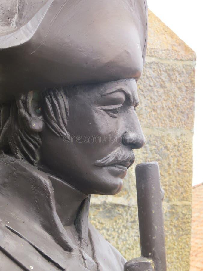 Estátua em fotres de Sri Lanka foto de stock