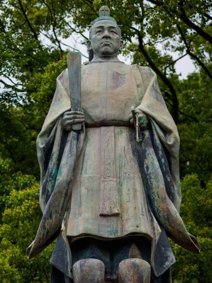 Estátua em Kagoshima fotografia de stock