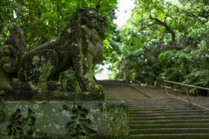 Estátua em Kumamoto, japão fotos de stock