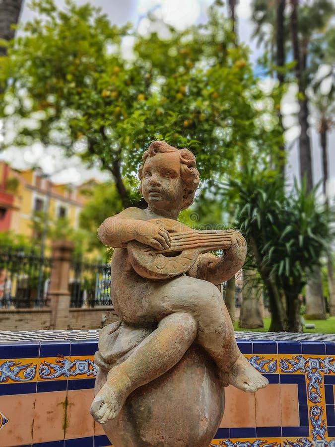 Estátua em Sevilha imagens de stock