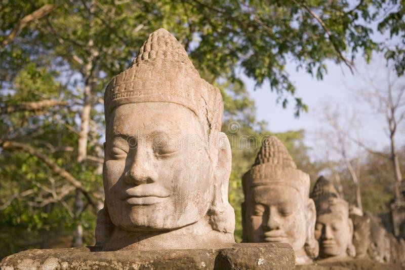 Estátua em Siem Reap fotografia de stock