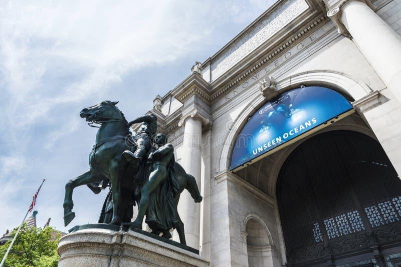 Estátua equestre de Theodore Roosevelt em New York City, EUA fotos de stock