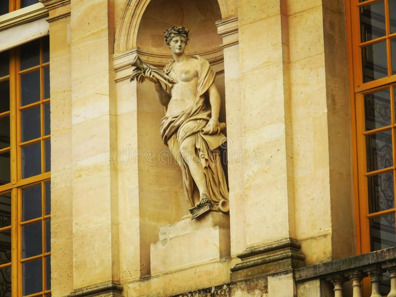 Estátua fêmea de Versalhes foto de stock
