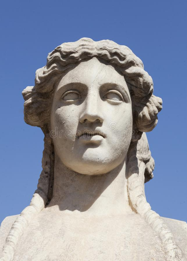 Estátua fêmea grega foto de stock royalty free