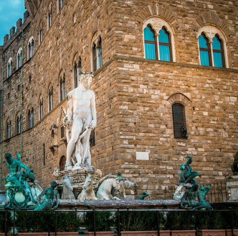 Estátua Florença de Netuno fotografia de stock