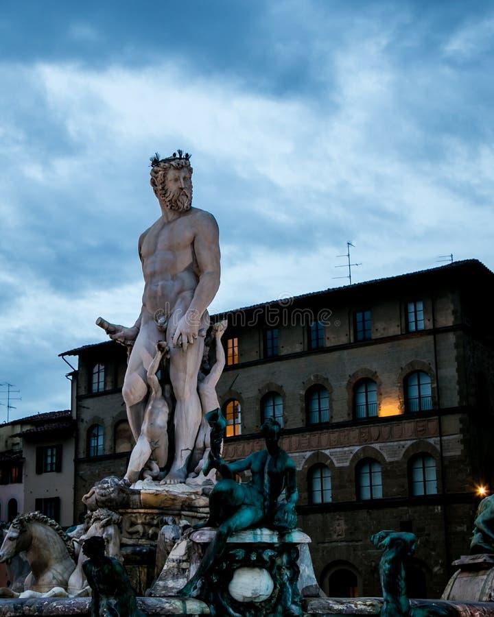Estátua Florença de Netuno imagens de stock royalty free