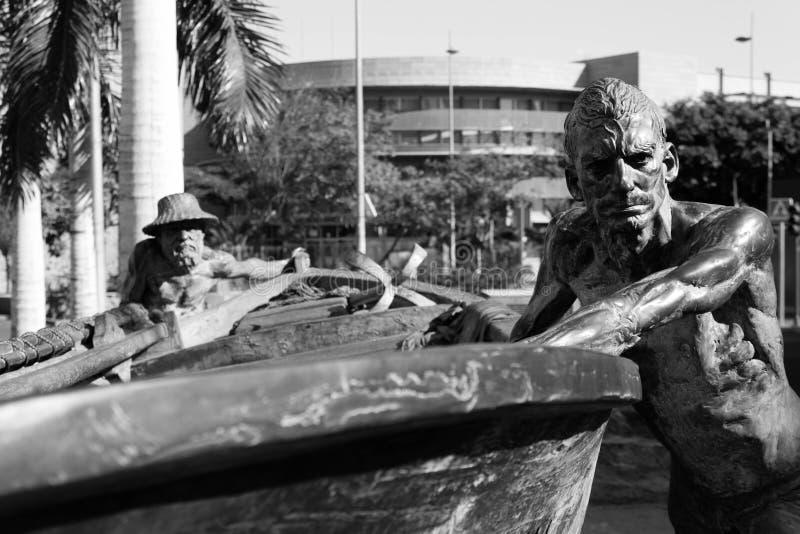 Estátua fora do mercado de Recova do La em Santa Cruz de Tenerife fotos de stock
