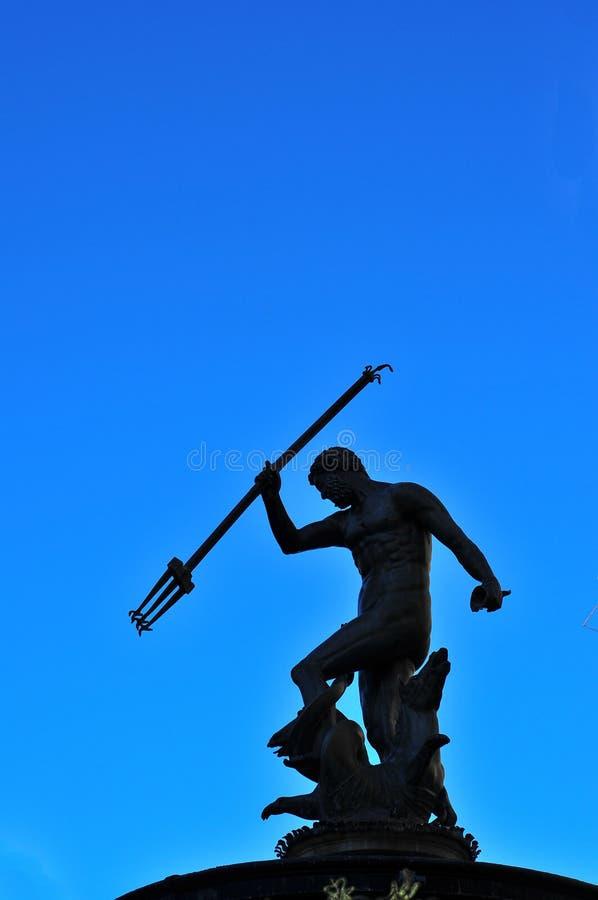 Estátua Gdansk de Netuno imagem de stock
