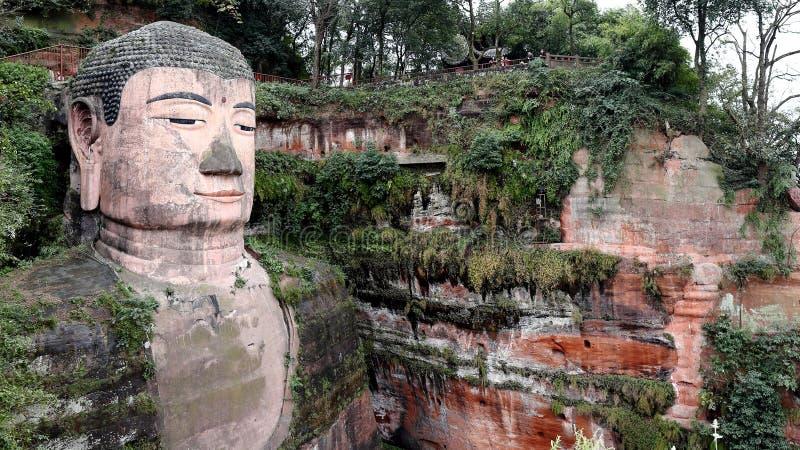 Estátua gigante da Buda de Leshan em China imagem de stock royalty free