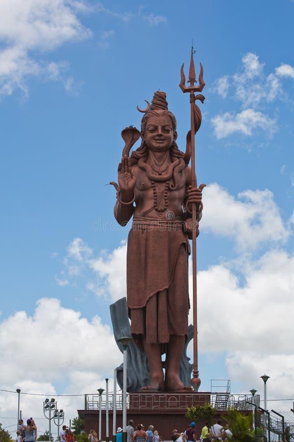 Estátua gigante de Shiva em Bassin grande, Maurícias imagem de stock royalty free