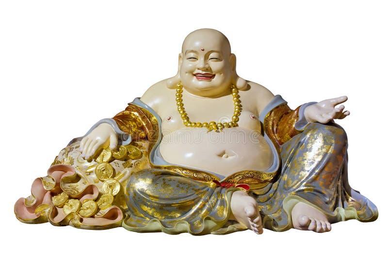 Estátua grande da monge do saco de pano de Maitreya da barriga foto de stock royalty free
