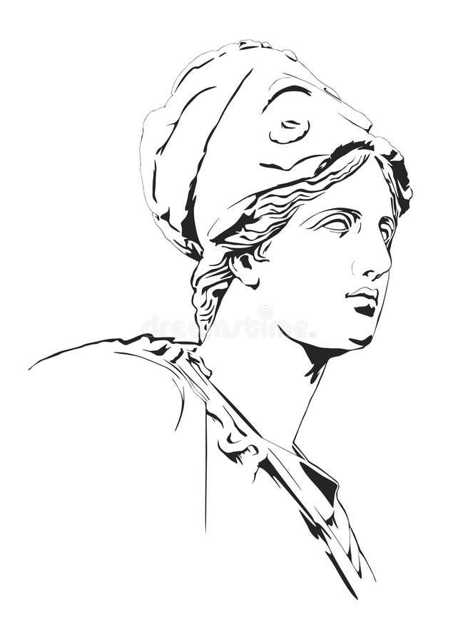 Estátua grega antiga ilustração royalty free