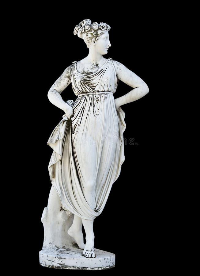 Estátua grega clássica fotografia de stock