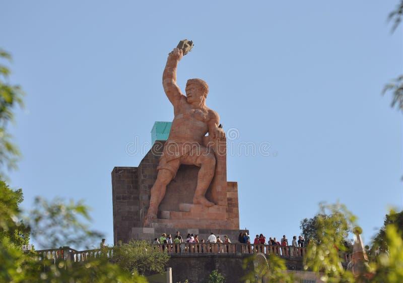 Estátua Guanajuato de Pipila imagem de stock