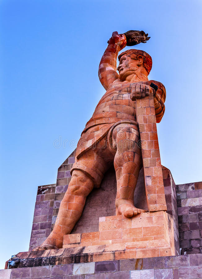 Estátua Guanajuato México do EL Pipila imagem de stock royalty free